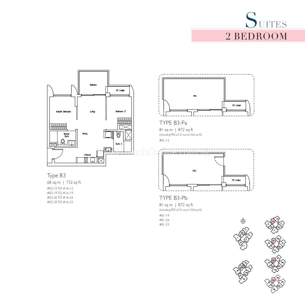 Lakeville 2 Bedroom Type B3 Suites Floor Plan