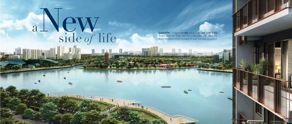 Lakeville @ Lakeside Singapore - Breathtaking Lake View (day)