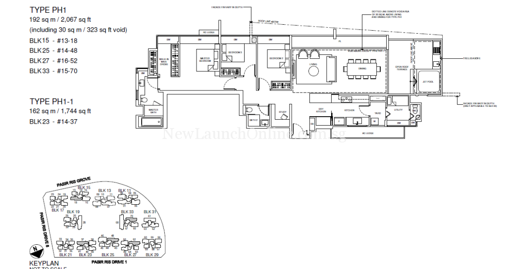 Coco Palms Penthouse Floor Plan Type PH1