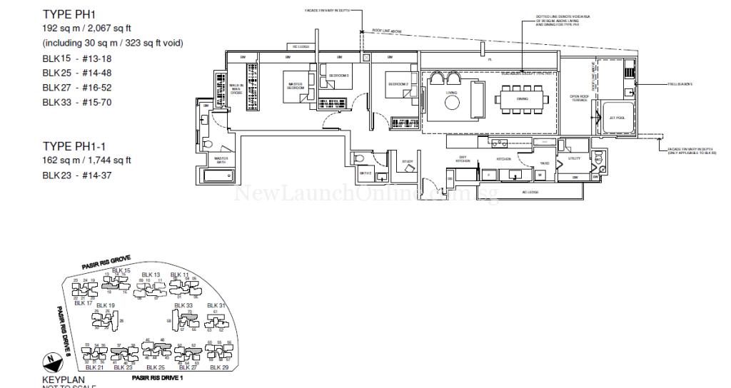 Coco Palms Penthouse Floor Plan Type PH1