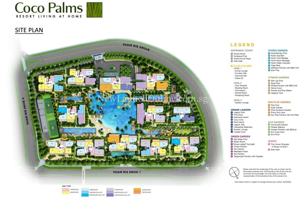 Coco Palms at Pasir Ris Grove Site Plan