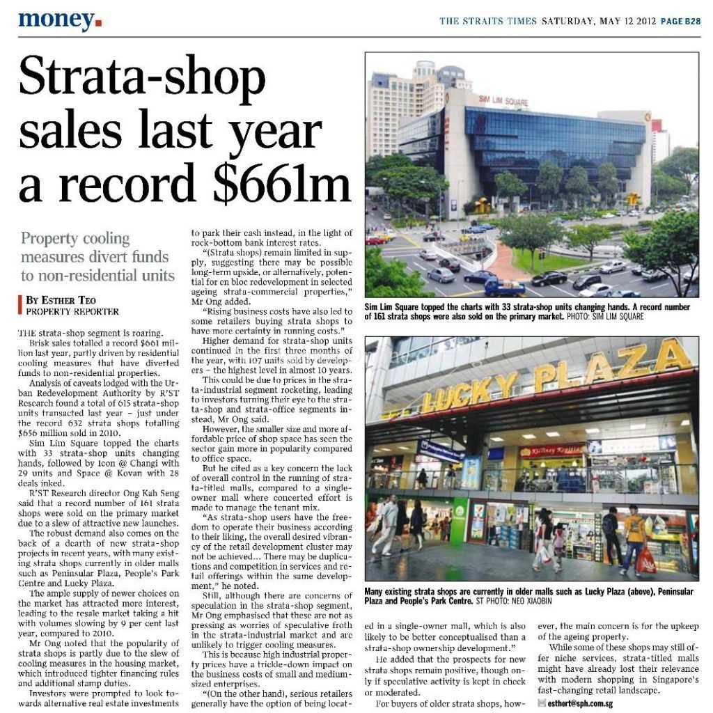 TRIO @ Sam Leong - Strata shop record sales of $661m