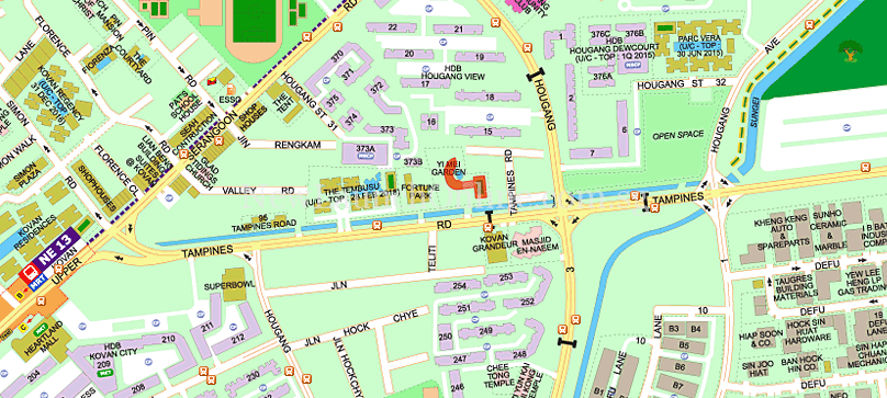 Trilive @ Tampines Road (Kovan) Location Map