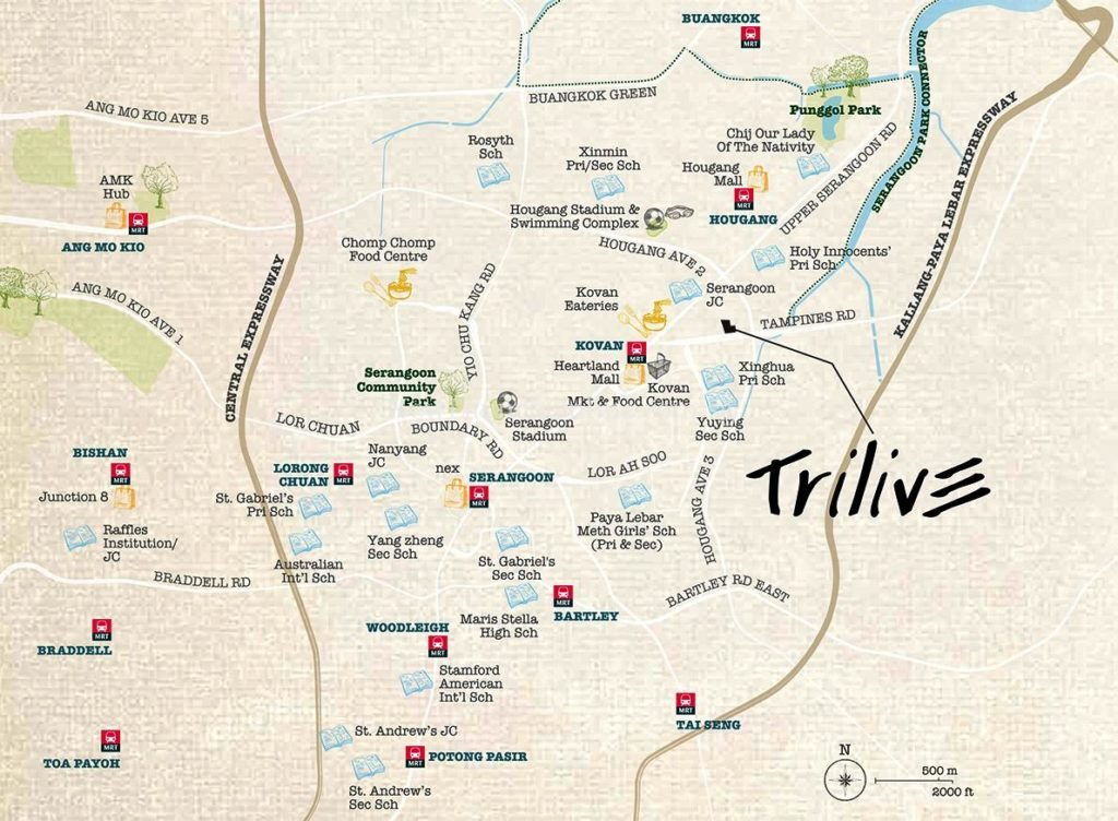 Trilive @ Tampines Road (Koven) Location Map