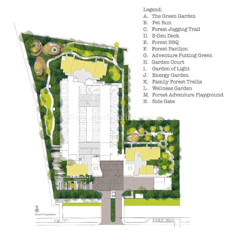 Trilive Facilities Plan - Garden Living @ Level 1