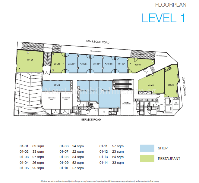 TRIO @ Sam Leong Road Level 1 Floor Plan