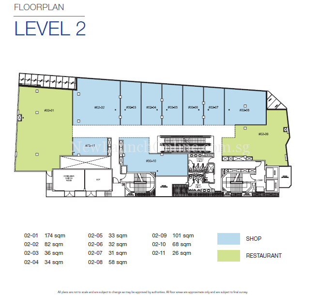 TRIO @ Sam Leong Road Level 2 Floor Plan