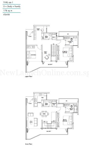 Kallang Riverside Type 4A-1 Floor Plan