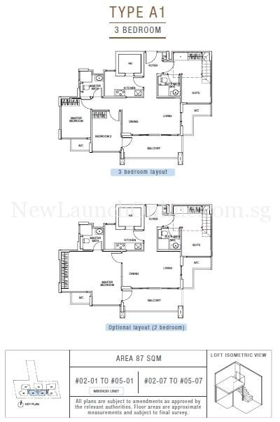 Sunnyvale Residences 3-Bedroom Type A1