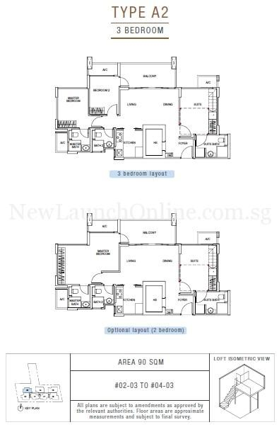 Sunnyvale Residences 3-Bedroom Type A2