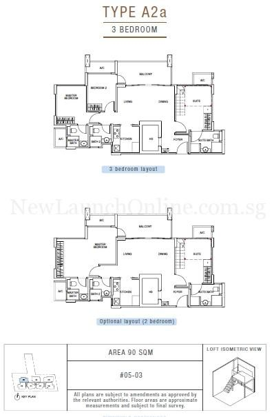 Sunnyvale Residences 3-Bedroom Type A2a