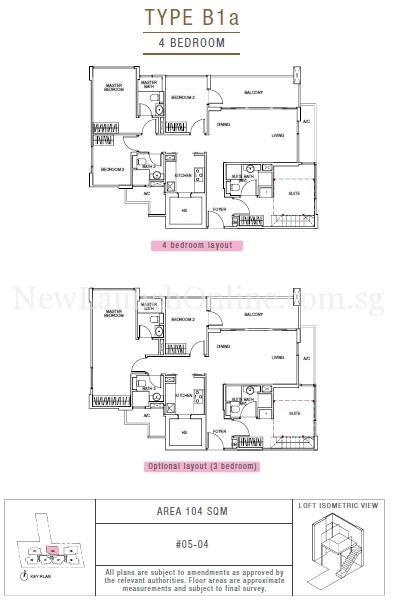 Sunnyvale Residences 4-Bedroom Type B1a