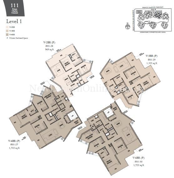The Crest Villa Blk 111 Level 1 Floor Plan Newlaunchonline Com Sg