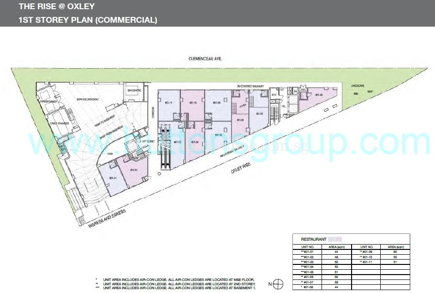 The Rise at Oxley 1st Storey Plan (Commercial)