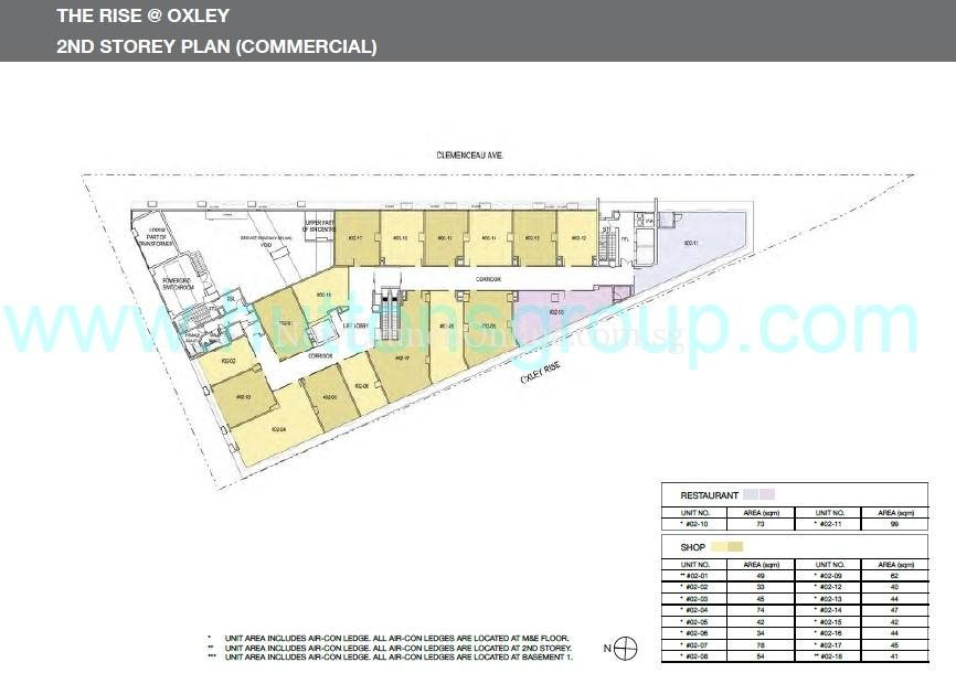 The Rise at Oxley 2nd Storey Plan (Commercial)