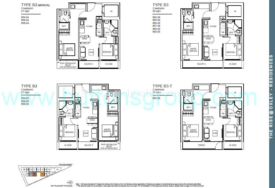The Rise at Oxley - Residences 2 Bedroom Floor Plan