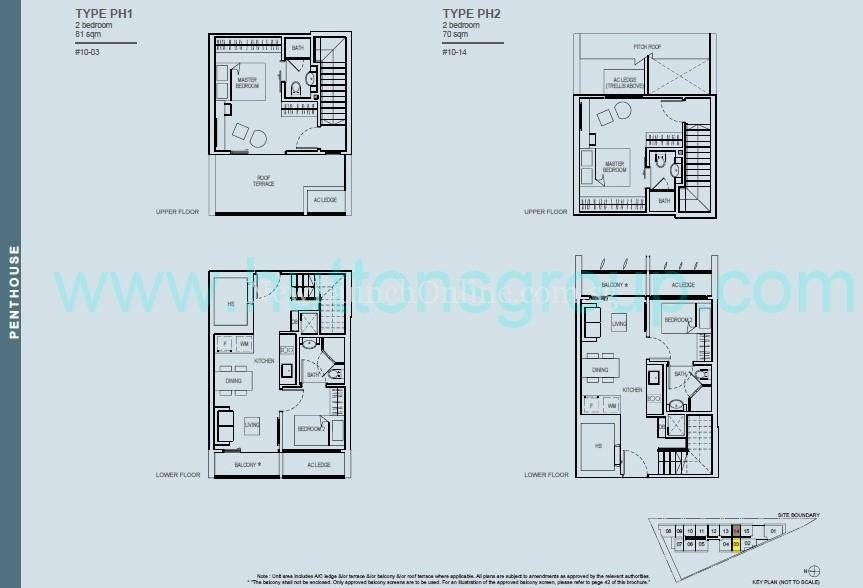 The Rise at Oxley - Residences 2 Bedroom Penthouse Floor Plan
