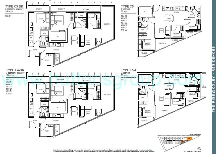 The Rise at Oxley - Residences 3 Bedroom Floor Plan