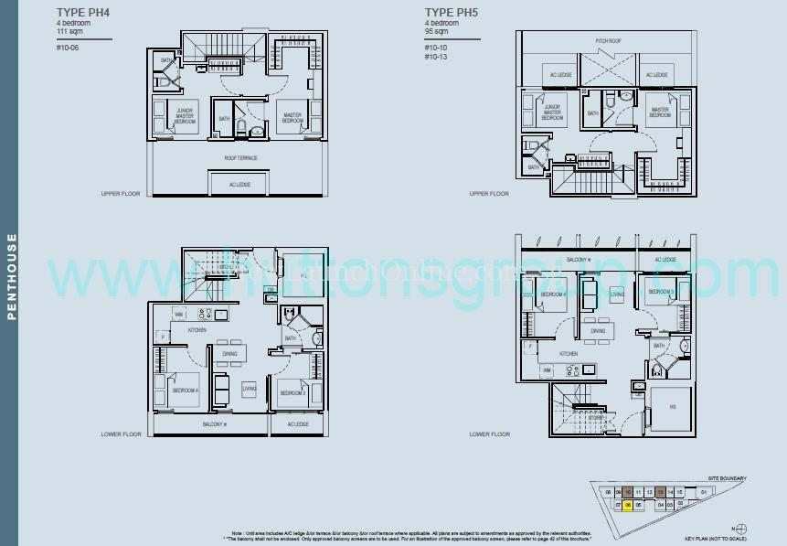 The Rise at Oxley - Residences 4 Bedroom Penthouse Floor Plan 2