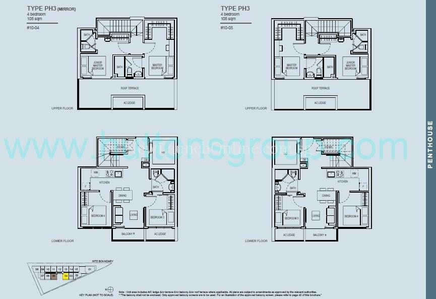 The Rise at Oxley - Residences 4 Bedroom Penthouse Floor Plan
