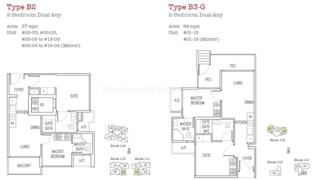 Trilive Floor Plan - 2 Bedroom Dual Key