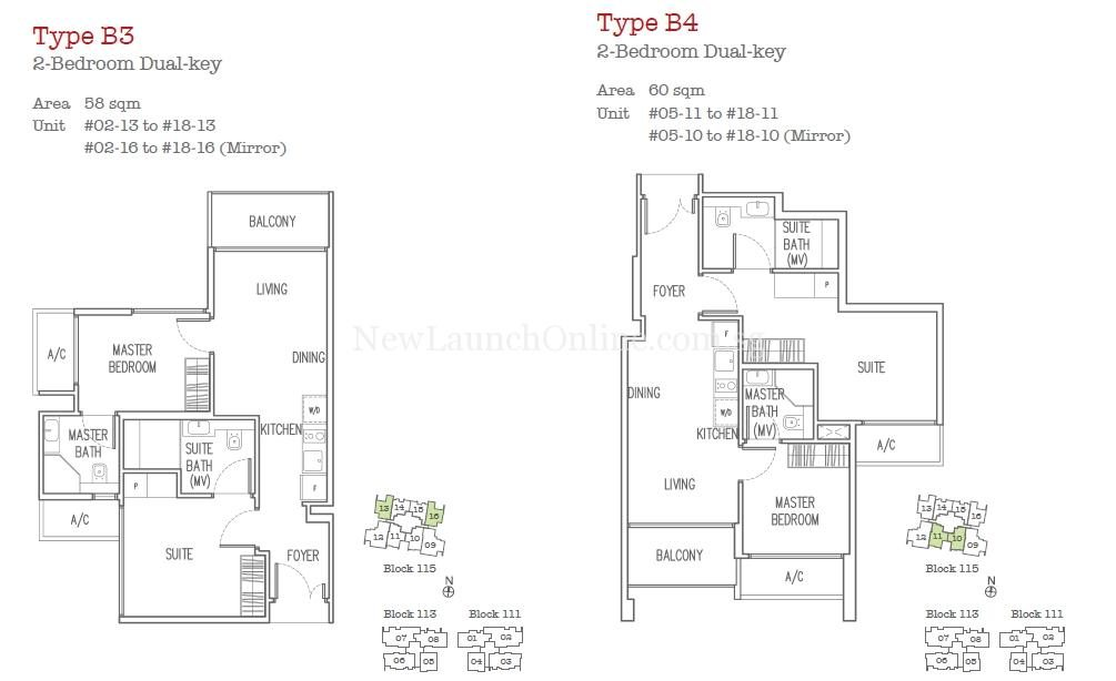 Trilive Floor Plan - 2 Bedroom Dual-Key