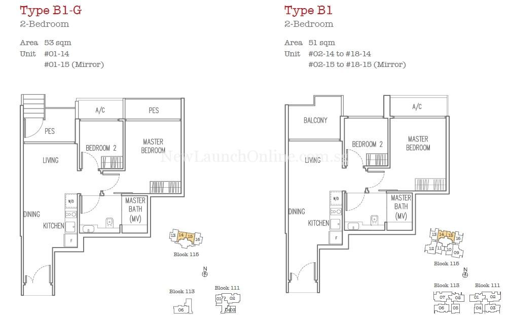Trilive Floor Plan - 2 Bedroom