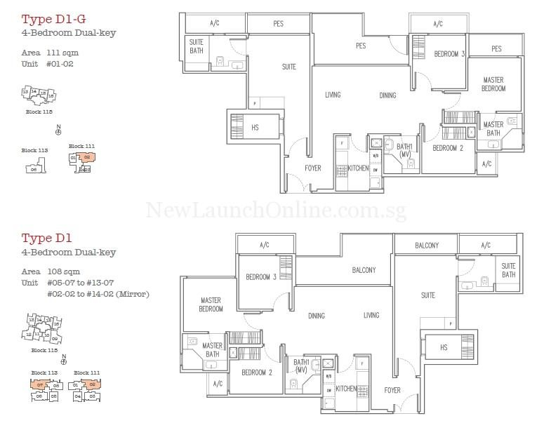 Trilive Floor Plan - 4 Bedroom Dual Key