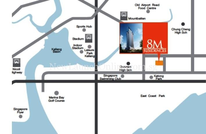8M Residences Location Map