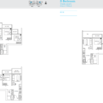 TRE Residences floor plan - 2 bedroom