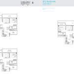 TRE Residences floor plan - 2+Study