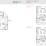 TRE Residences floor plan - 3 bedroom premium