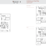 TRE Residences floor plan - 4 bedroom premium
