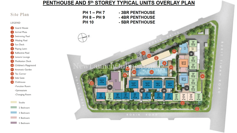 Robin Residences Site Plan - Penthouse