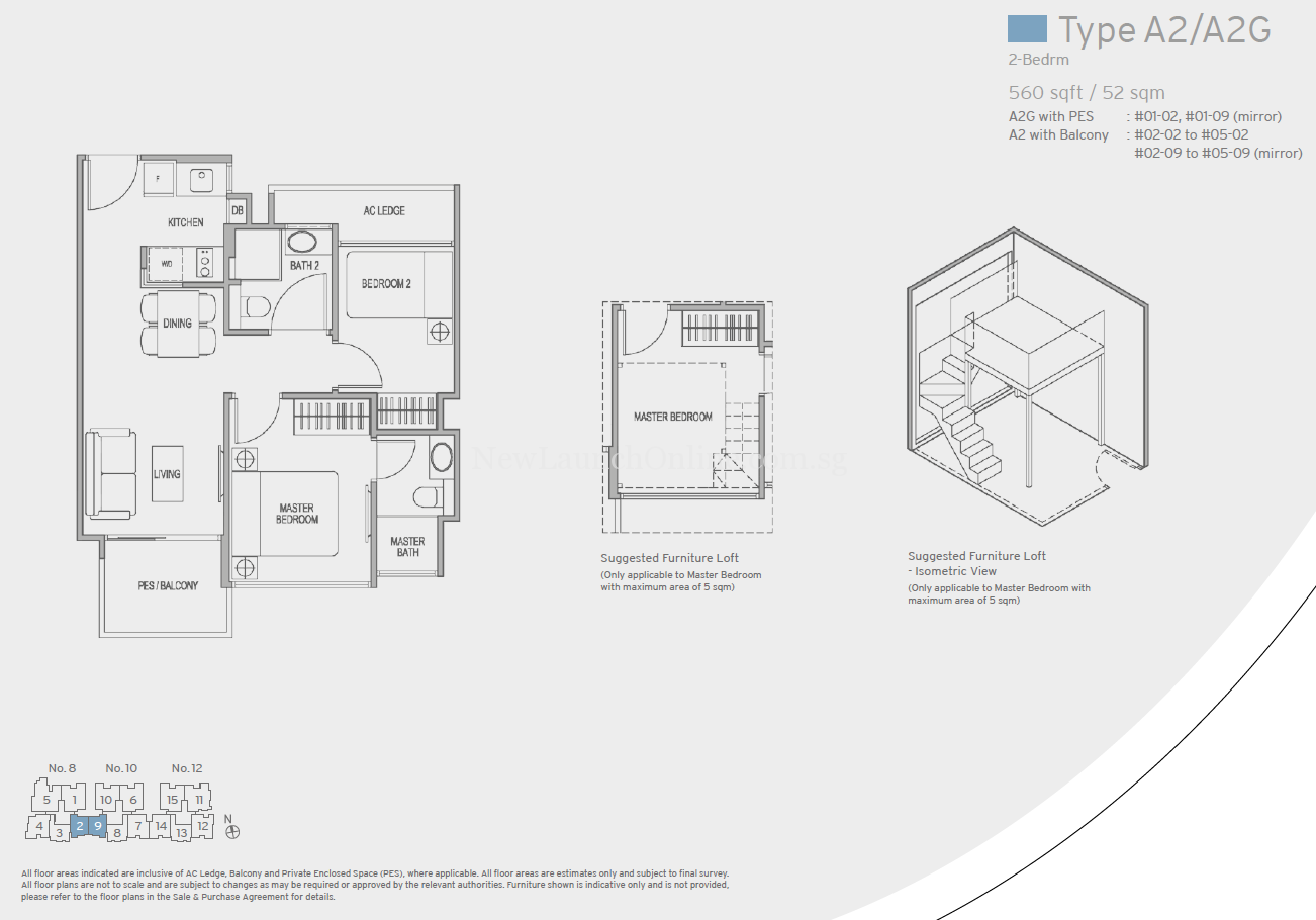 Adana Floor Plan 2 Bedroom Type A2