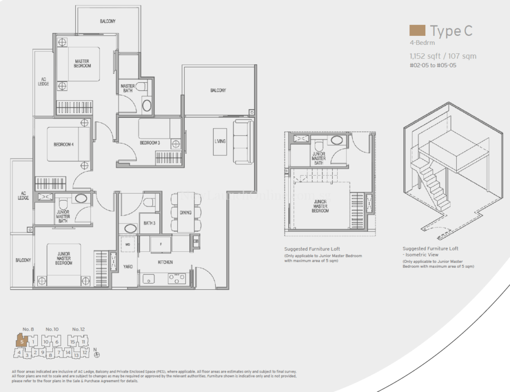 Adana Floor Plan - 4 Bedroom (Type C)