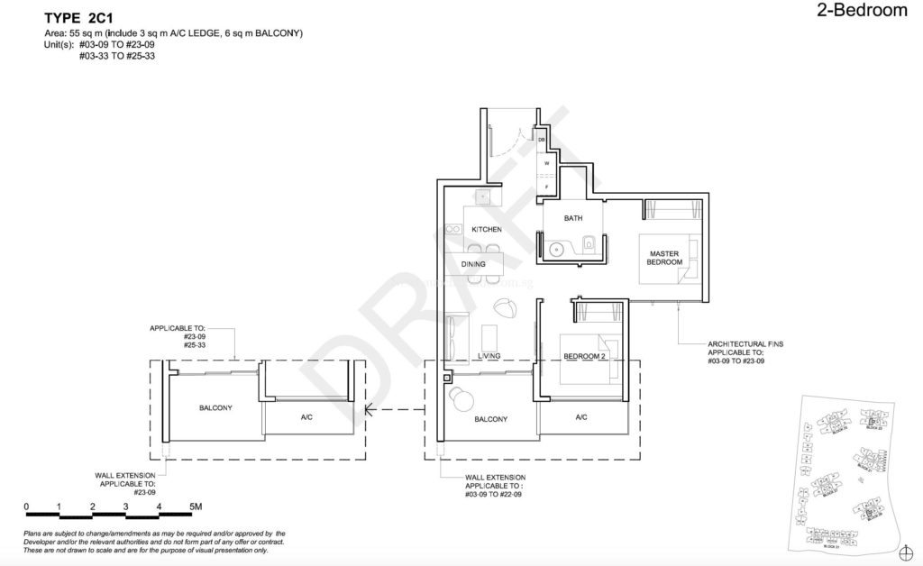 High Park Residences 2 Bedroom Floor Plan