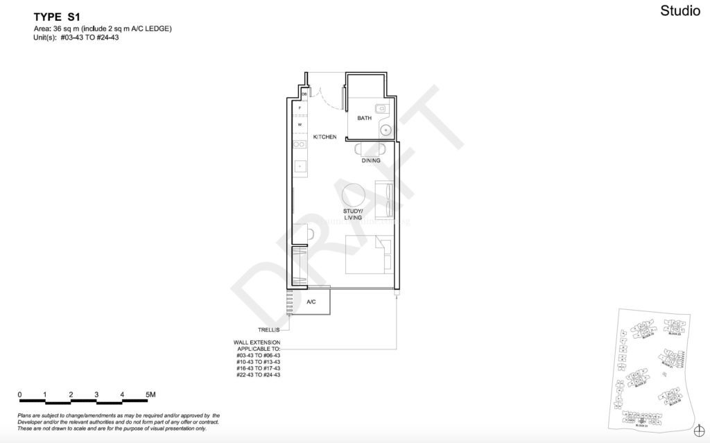 High Park Residences Studio Floor Plan