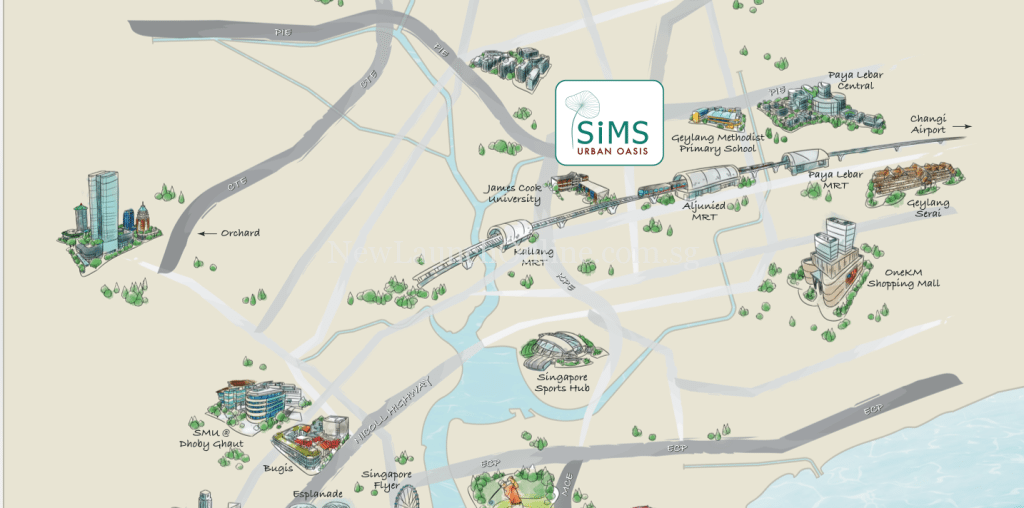 Sim Urban Oasis Location Map