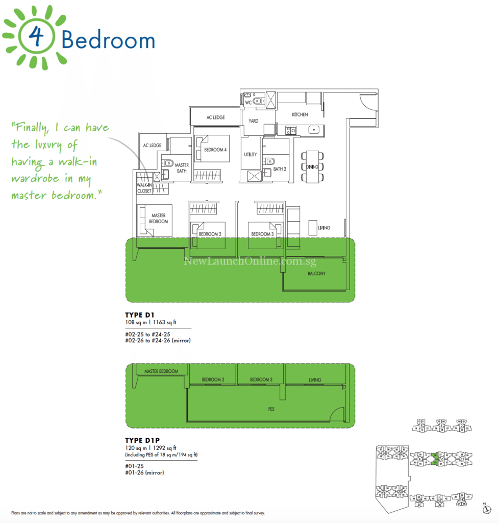 Sol Acres 4 Bedroom Floor Plan