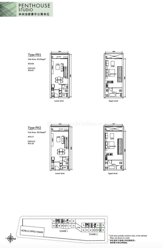 The Peak Cambodia Penthouse Floor Plan