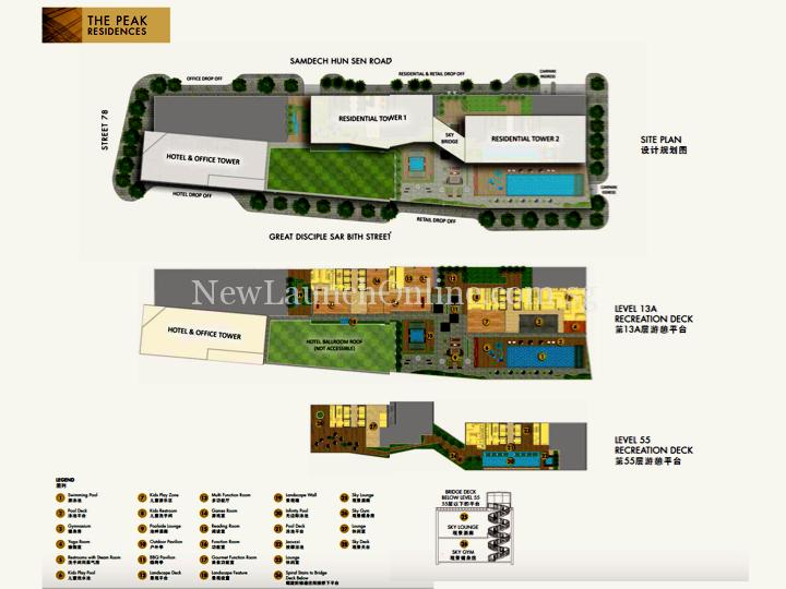 The Peak Cambodia Site Plan