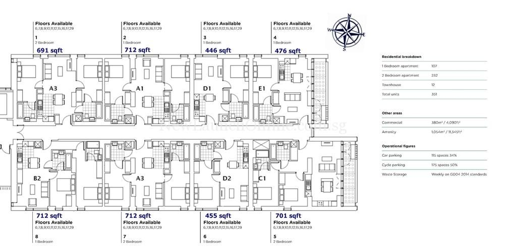 Oxygen Manchester Floor Plan with Orientation