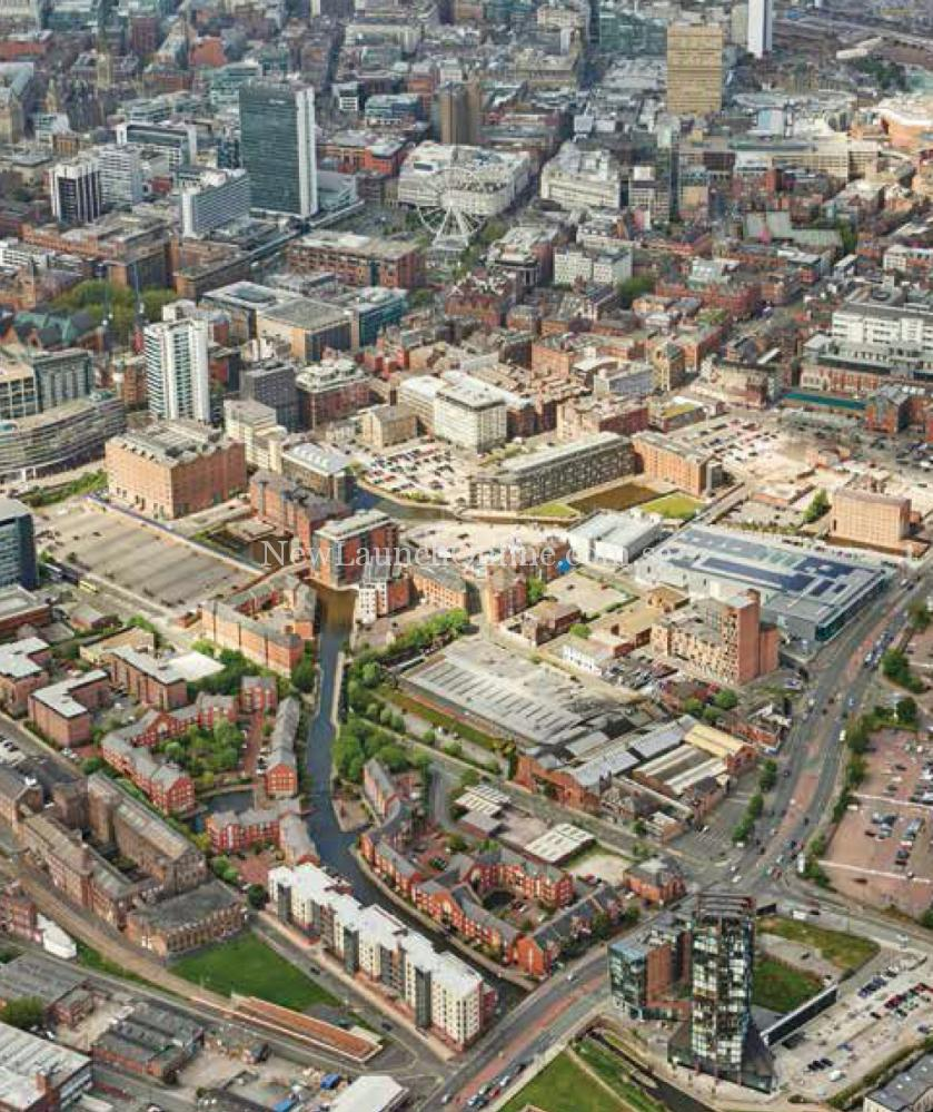 Oxygen Tower Manchester Aerial View
