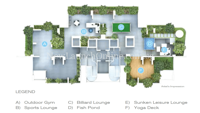 Forte Suites level 14 sky wellness site plan