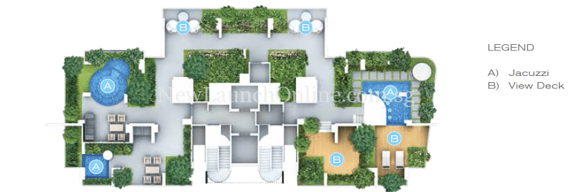 Forte Suites level 20 sky vista site plan