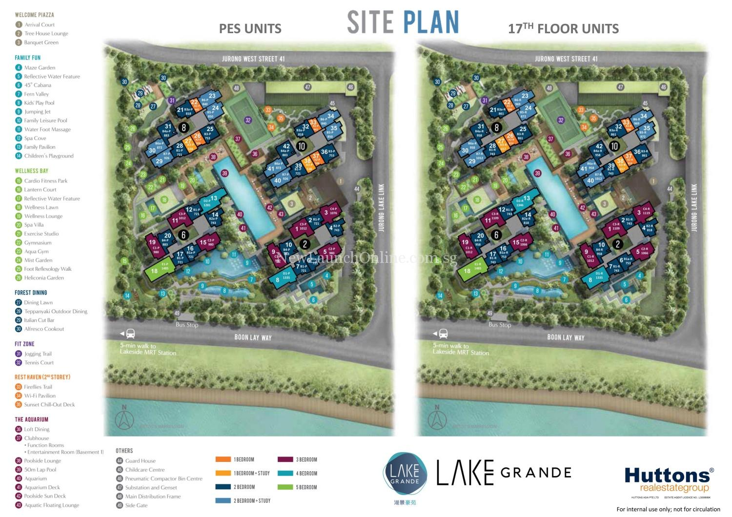Lake Grade Site Plan (PES Unit & #17)