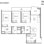 Lake Grande Floor Plan 3 Bedroom Type C3