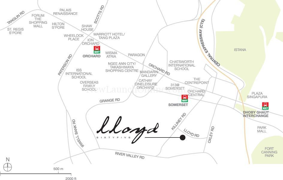 Lloyd SixtyFive location map