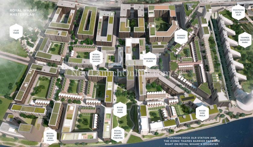 Royal Wharf London Masterplan